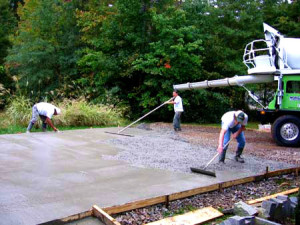 The installation of a concrete driveway in Habersham County, GA